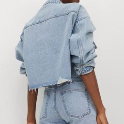 5-pocket shorts in washed denim. High waist, zip fly with button, and raw-edge hems. | H&M (US)