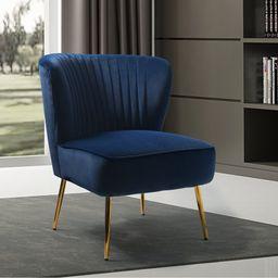 Alfredo 26'' Wide Tufted Velvet Side Chair   Wayfair Professional