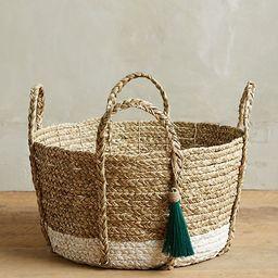 Balinese Tassel Basket   Anthropologie (US)