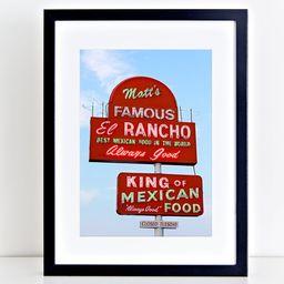 Austin Texas Wall Art, Ready to Ship, Matt's Famous El Rancho   Etsy (US)