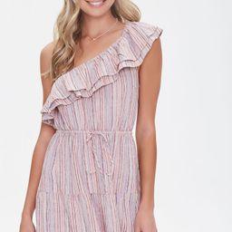 Striped One-Shoulder Dress   Forever 21 (US)
