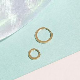 Small Gold Huggie Clicker Earring | Stone & Strand