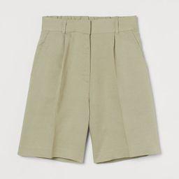 Linen-blend Bermuda Shorts | H&M (US)