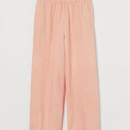Linen-blend Crop Pants   H&M (US)