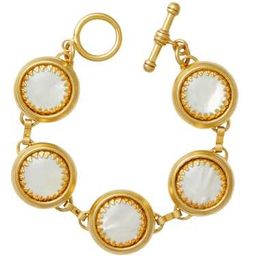 Bubble 24k Gold-Plated and Mother of Pearl Bracelet   Moda Operandi (Global)