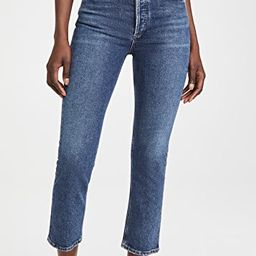 Riley High Rise Straight Crop Jeans | Shopbop