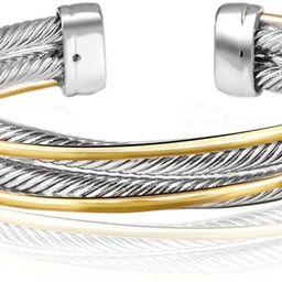 UNY Vintage fashion Twisted Cable wire bracelet new Antique design Elegant Unique Retro Cuff Brac...   Amazon (US)