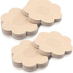 40 Pairs Nipple Covers Disposable, Breast Pasties Comfortable & Sexy, Adhesive Satin Petals Pasti... | Amazon (US)