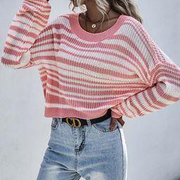 JIM&NORA Women's Pullover Sweaters Pink - Pink Stripe Dolman Sweater - Women   Zulily