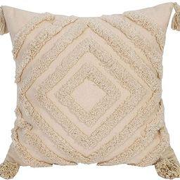 Faycole Morocco Tufted Throw Pillow Case with Tassels Boho Farmhouse Cushion Covers for Sofa Couc...   Amazon (US)
