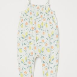 Sleeveless romper suit in soft cotton jersey with a printed pattern. Narrow shoulder straps with ...   H&M (US)