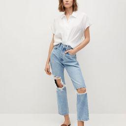 Buttoned flowy shirt   MANGO (US)