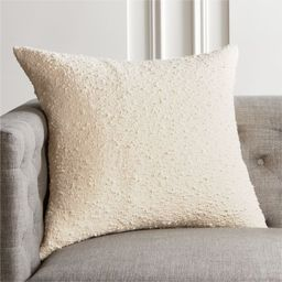 """23"""" Boucle Ivory Pillow with Feather-Down Insert   CB2   CB2"""