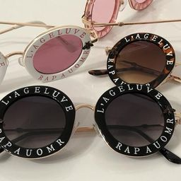 L'ageluve Rapauomr Round Thick Metal Frames   Etsy (US)