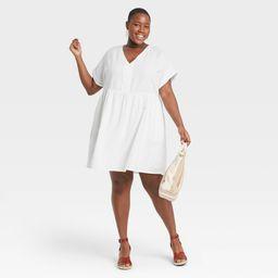 Women's Plus Size Short Sleeve Shirtdress - Universal Thread™ | Target