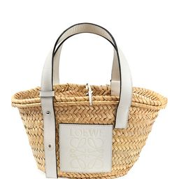 Basket Small Woven Palm Tote Bag | Neiman Marcus