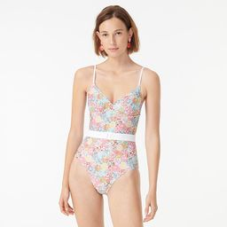 Belted one-piece in Liberty® Patchwork Dream floral | J.Crew US