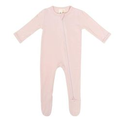Zippered Footie in Blush   Kyte BABY