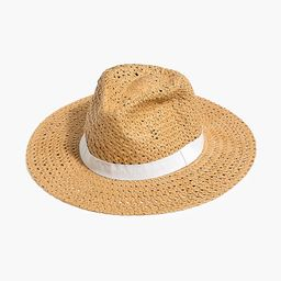Straw hat with ribbon   J.Crew Factory