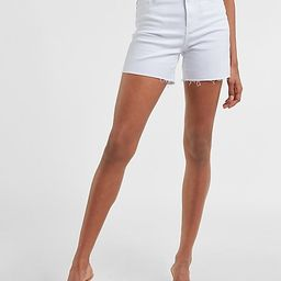 High Waisted White Raw Hem Jean Shorts$40.50 marked down from $54.00$54.00 $40.50Price Reflects 2...   Express