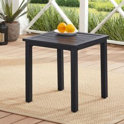 """Mainstays Heritage Park 20"""" Square Slat Top Outdoor Patio Side Table 