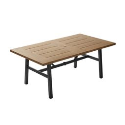 "Better Homes & Gardens Kennedy Pointe Rectangular Outdoor Dining Table, 70"" x 39"" | Walmart (US)"