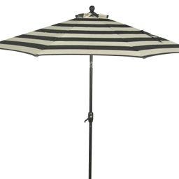 Better Homes & Gardens 9' Outdoor Market Patio Umbrella, Ibiza Stripe | Walmart (US)