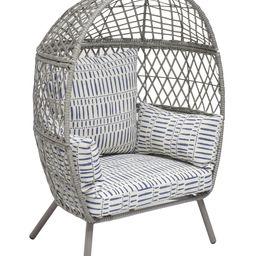 Better Homes & Gardens Ventura Outdoor Kid's Stationary Egg Chair, Gray | Walmart (US)