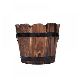 Kernelly Flowerpot Wooden Bucket Barrel Planters Rustic Flower Pots Boxes Container with Drain Ho... | Walmart (US)