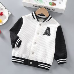 Toddler Boys Striped And Letter Graphic Bomber Jacket   SHEIN