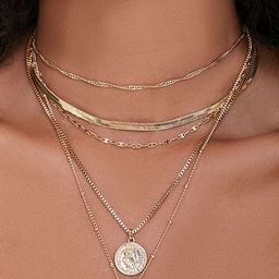 Ancient Coin Pendant Layered Necklace   Forever 21 (US)
