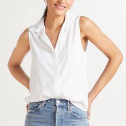 Essential Sleeveless Button Down Shirt | Evereve