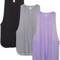 icyzone Workout Tank Tops for Women - Running Muscle Tank Sport Exercise Gym Yoga Tops Athletic S... | Amazon (US)