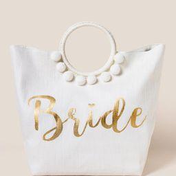 Bridal Circle Handle Tote   Francesca's Collections