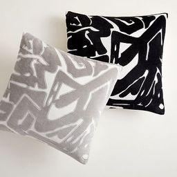 Abstract Velvet Applique Pillow Cover   West Elm (US)