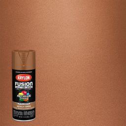 Krylon Fusion All-In-One Spray Paint, Metallic Copper, 12 oz.   Walmart (US)