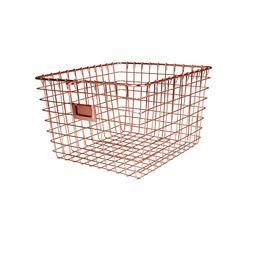 Spectrum Diversified Wire Storage Basket, Vintage Locker Basket Style, Rustic Farmhouse Chic, Ste...   Walmart (US)