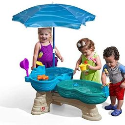 Step2 Spill & Splash Seaway Water Table   Kids Dual-Level Water Play Table with Umbrella & 11-Pc ...   Amazon (US)