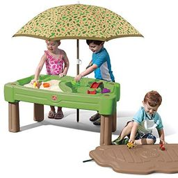 Step2 Cascading Cove Sand & Water Table with Umbrella   Kids Sand & Water Table with Umbrella   6...   Amazon (US)
