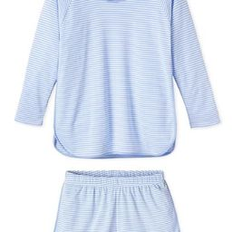 Pima Long-Short Set in Hydrangea | LAKE Pajamas