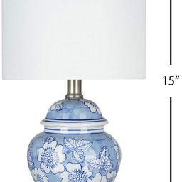 """Amazon Brand – Ravenna Home Traditional Chinoiserie Ceramic Table Lamp, LED Bulb Included, 15""""H... 