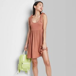 Women's Sleeveless Tie-Strap Babydoll Textured Knit Dress - Wild Fable™ | Target