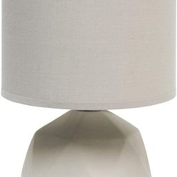 Simple Designs LT2060-GRY Geometric Concrete Lamp, Gray | Amazon (CA)