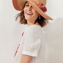 Floral-Detail Straw Hat | Chico's