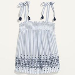 Smocked Tie-Shoulder Printed Sleeveless Top for Women | Old Navy (US)
