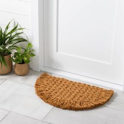 Half Circle Braided Coir Doormat - Hearth & Hand™ with Magnolia | Target