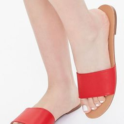 Faux Leather Slip-On Sandals | Forever 21 (US)