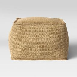 Outdoor Pouf Natural Woven - Threshold™ | Target