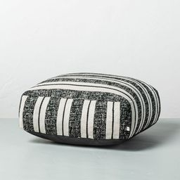 Bold Stripe Outdoor Floor Cushion Black/White - Hearth & Hand™ with Magnolia | Target