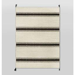 Outdoor Rug Argyle Stripe Black - Threshold™ | Target